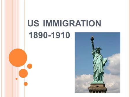 US IMMIGRATION 1890-1910. What is immigration? To enter and settle in a country or region to which one is not native. To send or introduce as immigrants:
