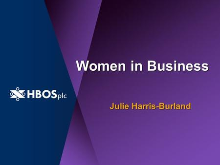 Women in Business Julie Harris-Burland. The Agenda: Why Women? Facts & Figures What are we doing? Internal Focus Events and activities Questions.