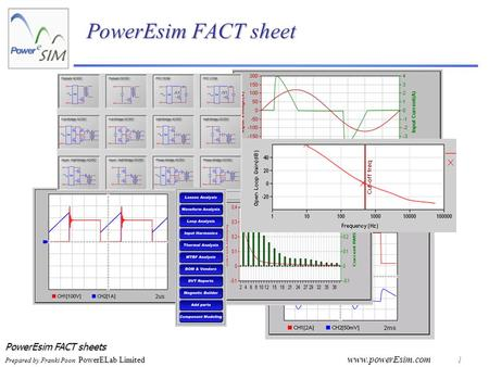 PowerEsim FACT sheets Prepared by Franki Poon PowerELab Limited www.powerEsim.com 1 PowerEsim FACT sheet.