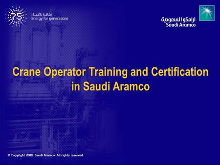 Crane Operator Training and Certification