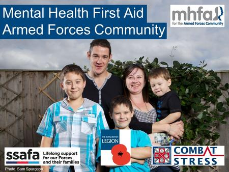 Mental Health First Aid Armed Forces Community Photo: Sam Spurgeon.