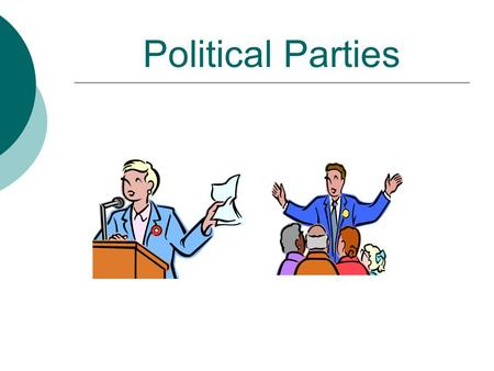 Political Parties Issues, Principles and Party Realignment  Answer the following questions on a separate sheet of paper in complete sentences.  1.