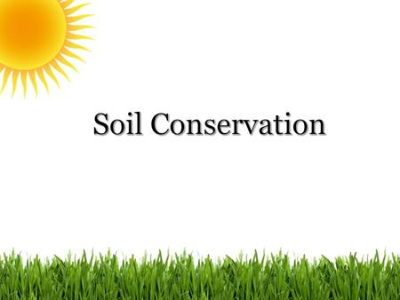  Soil is one of Earth´s most valuable natural resources because everything that lives on land, including humans, depends directly or indirectly on soil.