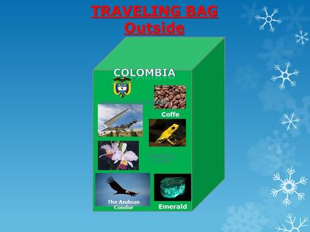 Coffe Emerald The Andean Condor Phyllobates terribilis Coat of arms of ColombiaCoat of arms of Colombia. TRAVELING BAG Outside.