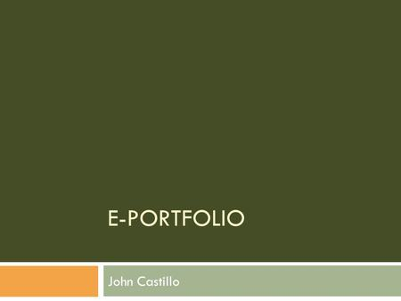 E-PORTFOLIO John Castillo. 3D Analyst A set of tools that lets users create, visualize and analyze two-dimensional data in a three- dimensional context.