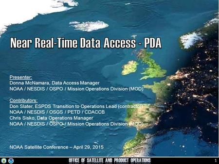 Near Real-Time Data Access - PDA
