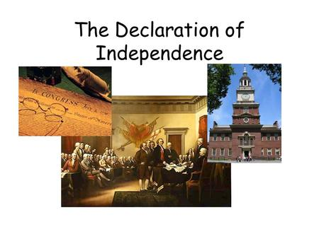 The Declaration of Independence. Common Sense Many people were still on the fence in regards to independence. They weren't sure if they should break ties.