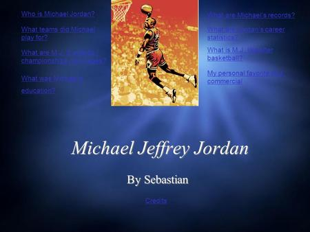 Michael Jeffrey Jordan