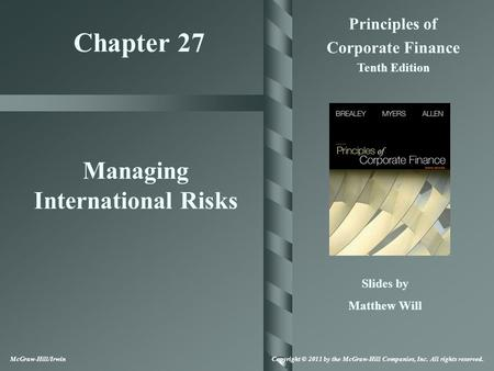 Managing International Risks