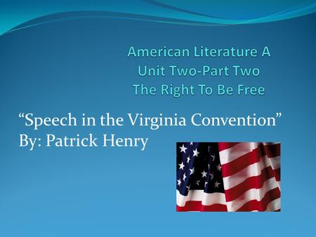 rhetorical paper patrick henry speech to virginia convention Rhetorical devices used in this speech learn with flashcards, games, and more — for free search create log in sign up log in sign up 20 terms shannon8122 henry-speech to the virginia convention rhetorical devices used in this speech study play allusion.