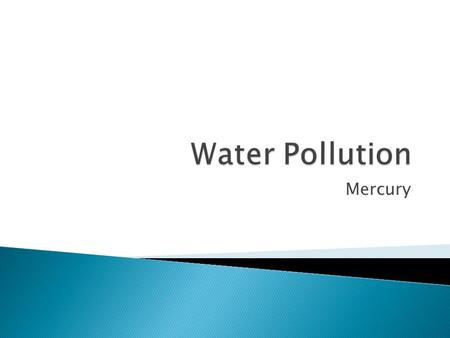 Water Pollution Mercury.