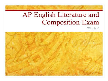 ap english literature and composition syllabus