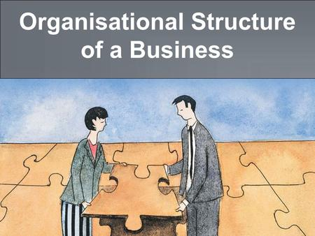Organisational Structure of a Business. tutor2u ™ GCSE Business Studies Why Do Businesses Need to be Organised? Small businesses (particularly sole traders)
