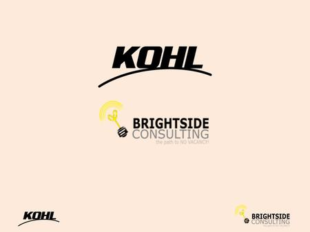 Joint Venture Purpose Kohl Asset Management (KAM) and Brightside Consulting (BRIGHTSIDE) share a common commitment to provide a range of sales, operational.