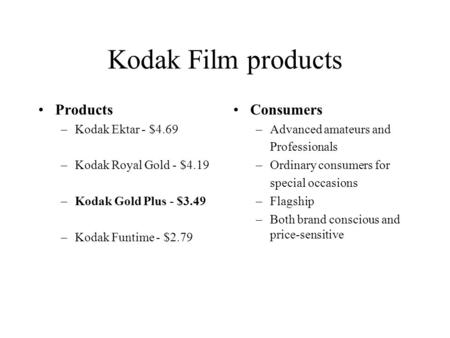 eastman kodak company case study solution