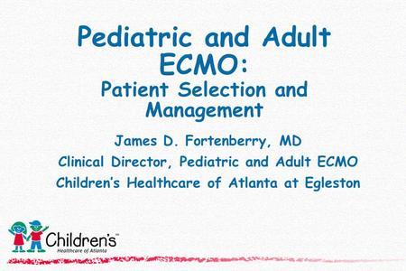 Pediatric and Adult ECMO: Patient Selection and Management