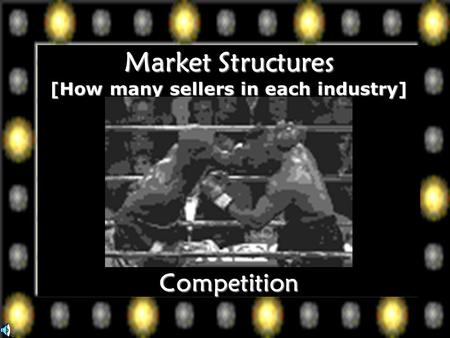 Market Structures [How many sellers in each industry] Competition.