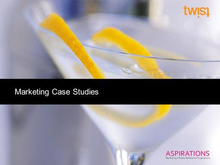 Marketing Case Studies. Click to edit Master title style Lynmar Estate Winery Case Study.