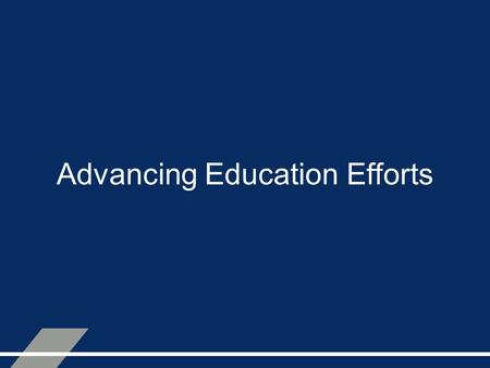 Advancing Education Efforts. Public Works Institutes.