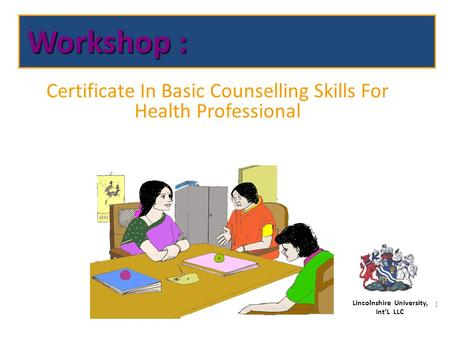 Certificate In Basic Counselling Skills For Health Professional