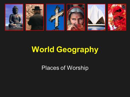 World Geography Places of Worship. Catholic Church, California.