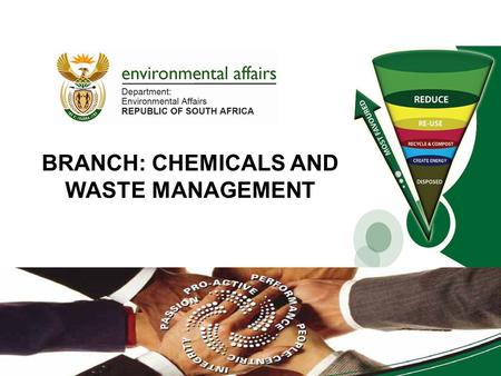 BRANCH: CHEMICALS AND WASTE MANAGEMENT 01/07/2013.