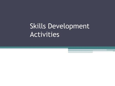 Skills Development Activities. Faculty of Agriculture.
