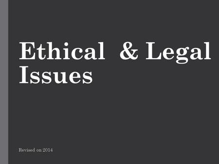 ethics human service legal issues Us department of health and human services (dhhs) office for human research access to a comprehensive international database on the legal, social and ethical aspects of human the science behind it, and the ethical, legal, and social issues that are raised by the project top of.