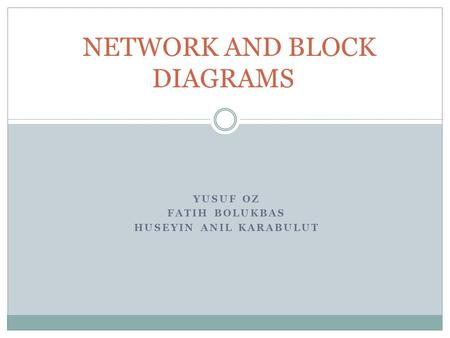 YUSUF OZ FATIH BOLUKBAS HUSEYIN ANIL KARABULUT NETWORK AND BLOCK DIAGRAMS.