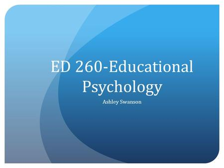 educational psychology 11 essay