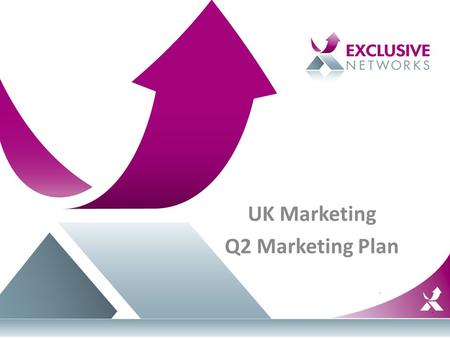 UK Marketing Q2 Marketing Plan. Agenda Marketing Organisation Events Planned Vendor Strategy.