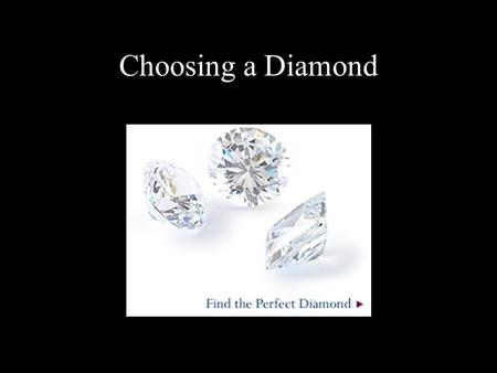 Choosing a Diamond.