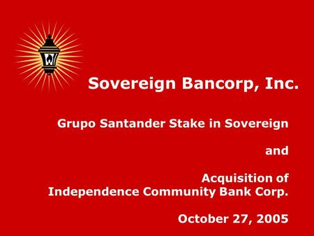 relationship between sovereign bank and santander