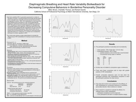 Diaphragmatic Breathing and Heart Rate Variability Biofeedback for