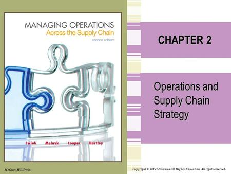 Copyright © 2014 McGraw-Hill Higher Education. All rights reserved. CHAPTER 2 Operations and Supply Chain Strategy McGraw-Hill/Irwin.