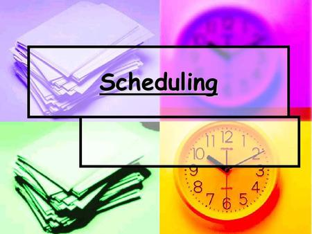 Scheduling. The Basics  The staff schedule is made up one month in advance.  Staff should make all requests in regards to their scheduling 2 weeks prior.