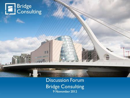 Discussion Forum Bridge Consulting 9 November 2012.