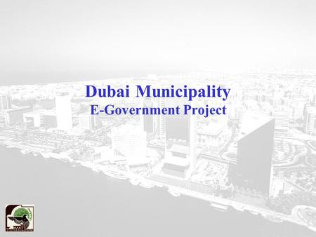Dubai Municipality E-Government Project. Agenda Strategy Development Stage Implementation Stage I Overall Project Implementation Plan.