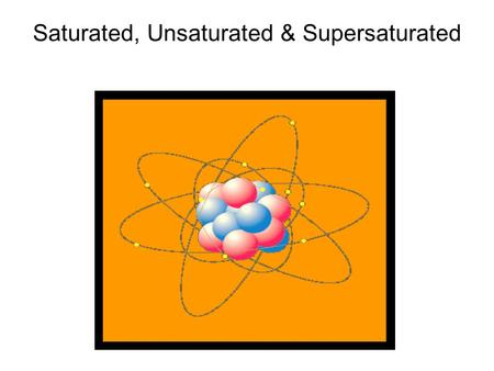 Saturated, Unsaturated & Supersaturated. A saturated solution is one in which no additional solute can dissolve in the solvent at that temperature. If.