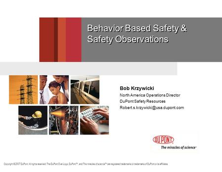 Behavior Based Safety & Safety Observations