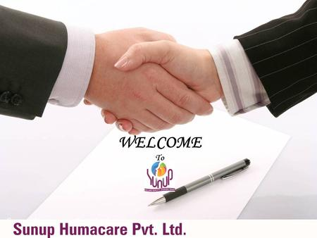 WELCOME To Sunup Humacare Pvt. Ltd. Introducing No More Snore.