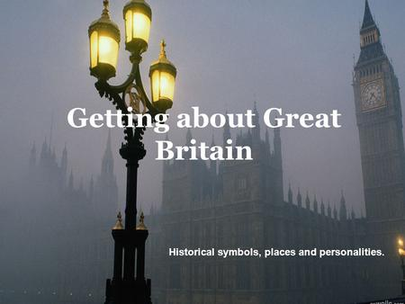 Getting about Great Britain