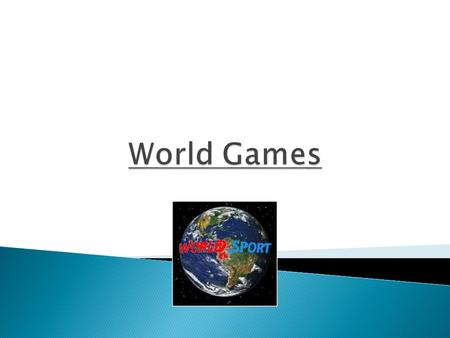 Any sporting competition that takes place at world, continental or regional level on a single or multi sport basis.