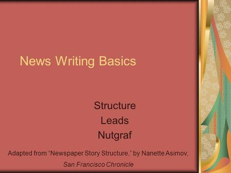 Writing article leads