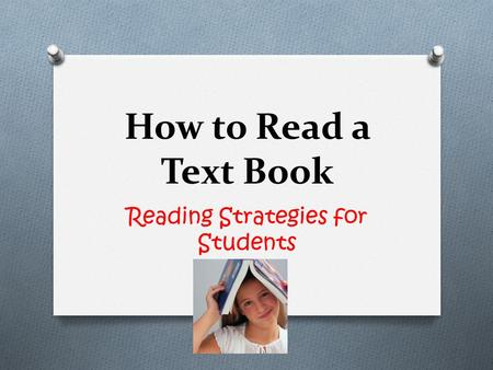 How to Read a Text Book Reading Strategies for Students.