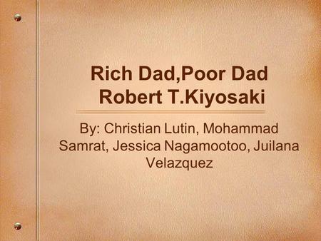 rich dad poor dad by robert kiyosaki pdf download