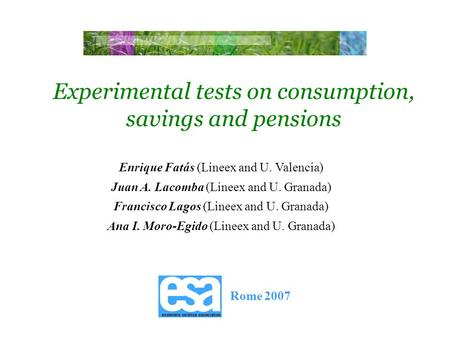 a study on consumption savings and