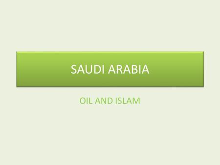 SAUDI ARABIA OIL AND ISLAM. KING ABDULLAH BIN ABDULAZIZ AL SAUD.