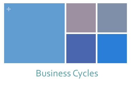 + Business Cycles. + Business Cycles: + Who Determines a Business Cycle: NBER: National Bureau of Economic Research Tracks business cycles. (Tables on.