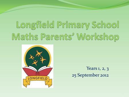 Longfield Primary School Maths Parents' Workshop